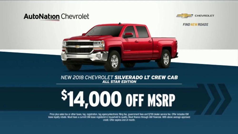 AutoNation TV Commercial, '12 Million Vehicles: Chevrolet Silverado and Spark'