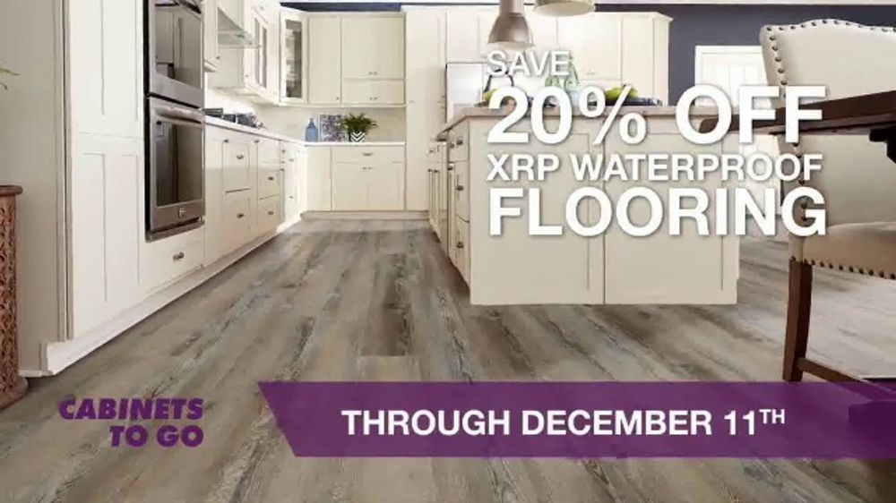 Cabinets To Go TV Commercial, 'Waterproof Flooring Event'