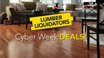 Lumber Liquidators Cyber Week Deals TV Spot, 'Laminate, Waterproof and Hardwood'