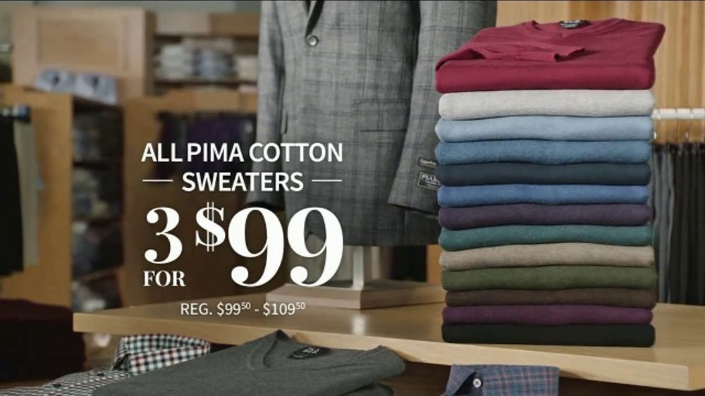 JoS. A. Bank Holiday Gift Specials TV Commercial, 'Pima Cotton Sweaters and Blazers'