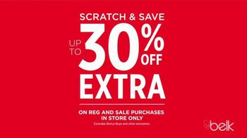 Belk Christmas Sale TV Spot, 'Scratch and Save Plus Bonus Buys'
