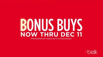 Belk Christmas Sale TV Spot, 'Bonus Buys, Toys and Belk Bucks'