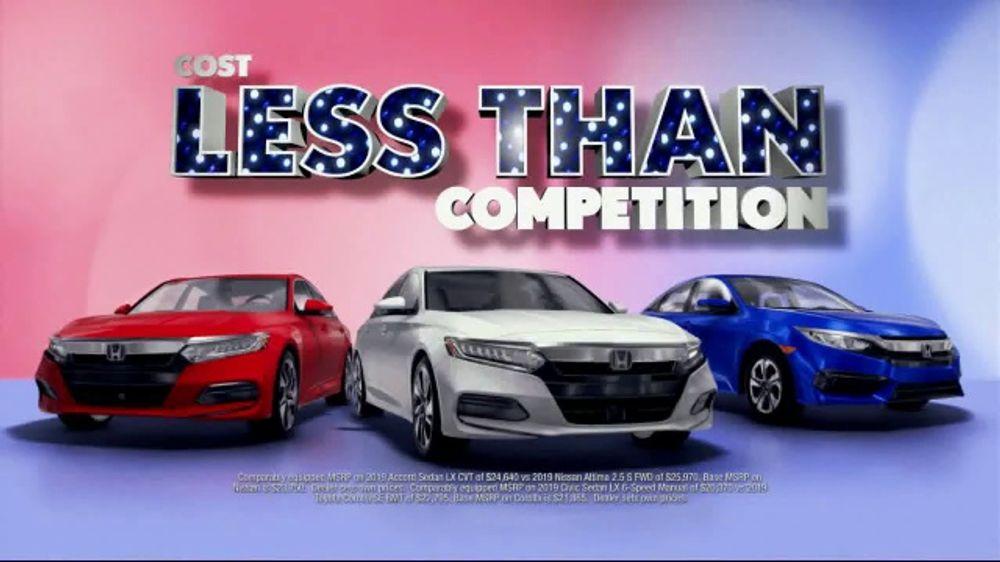 Honda Presidents Day Sales Event TV Commercial, 'Massive Savings: Sedans' [T2]