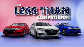 Honda Presidents Day Sales Event TV Spot, 'Massive Savings: Sedans' [T2]