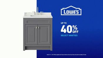 Lowe's TV Spot, 'Remodel Team: Vanities' - Thumbnail 10