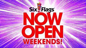 Six Flags Park Opening Season Pass Sale TV Spot, 'Open on Weekends'