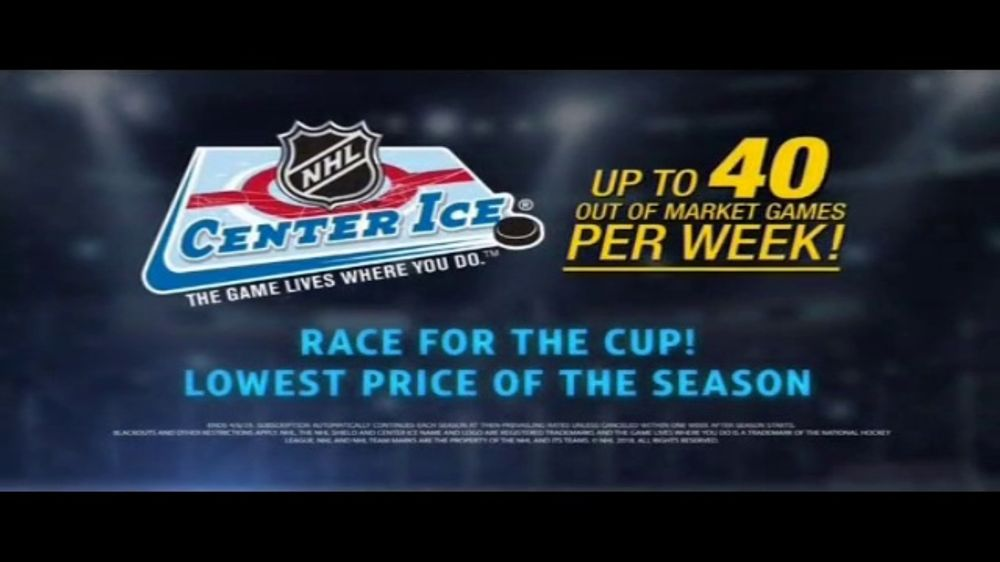 DIRECTV NHL Center Ice TV Commercial, 'Ease Your Pain: $59'