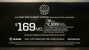 Ram Trucks Presidents Day Sales Event TV Spot, 'Deals Like No Other' [T2] - Thumbnail 7