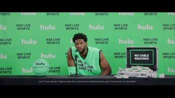 Hulu TV Spot, 'Hulu Has Live Sports' Featuring Joel Embiid