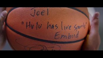 Hulu TV Spot, 'Hulu Has Live Sports' Featuring Joel Embiid - Thumbnail 2