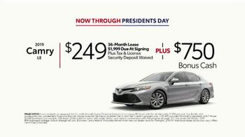2019 Toyota Camry TV Spot, 'Deals Through Presidents Day' [T2] - Thumbnail 6