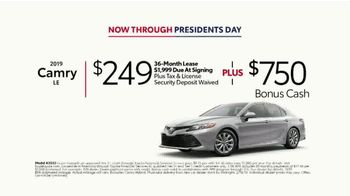 2019 Toyota Camry TV Spot, 'Deals Through Presidents Day' [T2] - Thumbnail 7