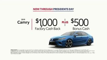 2019 Toyota Camry TV Spot, 'Deals Through Presidents Day' [T2] - Thumbnail 8