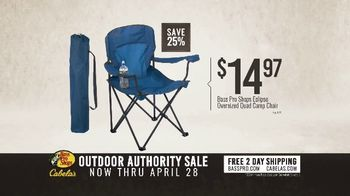 Bass Pro Shops Outdoor Authority Sale TV Spot, 'Camp Chairs & Hiking Boots' - Thumbnail 5