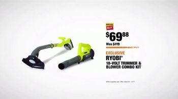 The Home Depot Spring Black Friday TV Spot, 'Herbs & Vegetables or Trimmer & Blower Combo Kit' - Thumbnail 9