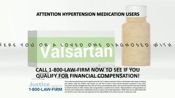 1-800-LAW-FIRM TV Spot, 'Diagnosed With Cancer After Valsartan Use'