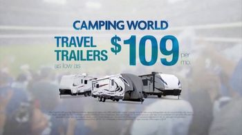Camping World Opening Day Sales Event TV Spot, '2019 Opening Day: $109 Travel Trailers' - Thumbnail 8