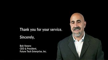 Future Tech Enterprise TV Spot, 'To the Brave Members of the U.S. Military: Thank You'