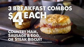 Bojangles' Breakfast Combos TV Spot, 'Country Ham, Sausage or Steak' - Thumbnail 8
