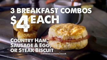 Bojangles' Breakfast Combos TV Spot, 'Country Ham, Sausage or Steak' - Thumbnail 9