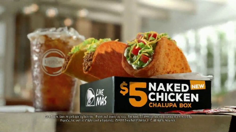 commercial chalupa Naked chicken