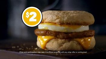 McDonald's $1 $2 $3 Dollar Menu TV Spot, 'Treat Yourself: Sausage McMuffin' - Thumbnail 6