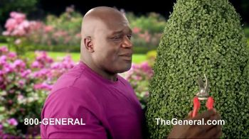 The General TV Spot, 'Strong Suits: Shaq Hedge Cutter & Zen Master' Featuring Shaquille O'Neal - Thumbnail 4