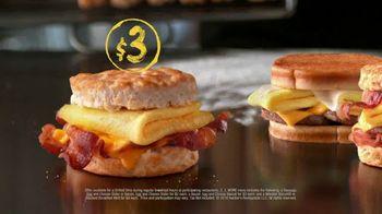Hardee's 2 3 More Menu TV Spot, 'Breakfast Sandwiches' - Thumbnail 4