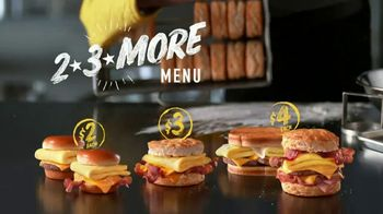 Hardee's 2 3 More Menu TV Spot, 'Breakfast Sandwiches' - Thumbnail 8