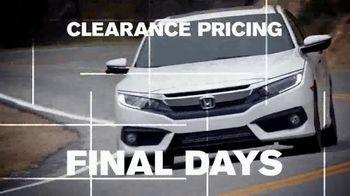 Happy Honda Days TV Spot, 'Last Chance: Every New Honda' [T2] - Thumbnail 7