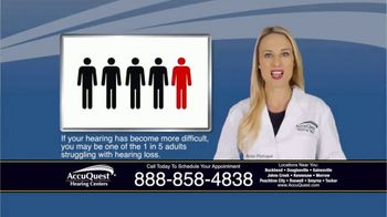 AccuQuest Hearing Centers TV Spot, 'Hearing Loss' - Thumbnail 2