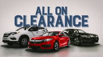 Honda Year End Clearance Sale TV Spot, 'All on Clearance' [T2] - Thumbnail 5