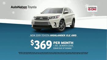 AutoNation Year End Event TV Spot, '2019 Toyota Highlander' - Thumbnail 8