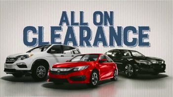 Honda Year End Clearance Sale TV Spot, 'Less Than the Competition' [T2] - Thumbnail 4