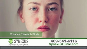 Synexus TV Spot, 'Rosacea Research Study'