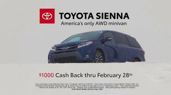2019 Toyota Sienna TV Spot, 'Uphill in the Snow' [T2] - Thumbnail 9