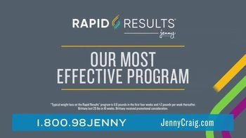 Jenny Craig Rapid Results TV Spot, 'Brittany: 85 Percent Off' - Thumbnail 4