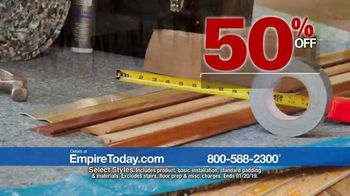 Empire Today 50-50-50 Sale TV Spot, 'Get Big Savings on Beautiful New Floors' - Thumbnail 6