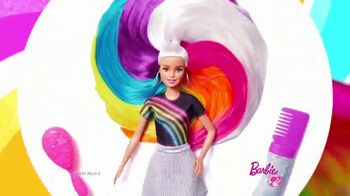 Barbie Rainbow Sparkle Hair TV Spot, 'Creating Our Own Looks'