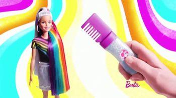 Barbie Rainbow Sparkle Hair TV Spot, 'Creating Our Own Looks' - Thumbnail 3