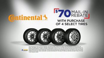 National Tire & Battery Big Brands Bonus Month TV Spot, 'Mail-In Rebate: Continental' - Thumbnail 3