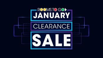 Rooms to Go January Clearance Sale TV Spot, 'Sofas and Reversible Chaises' - Thumbnail 1