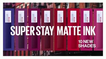 Maybelline New York SuperStay Matte Ink TV Spot, 'New York Inspired Shades' Featuring Gigi Hadid - Thumbnail 8