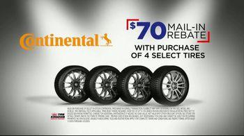 Tire Kingdom Big Brands Bonus Month TV Spot, 'Continental Tire Rebate'