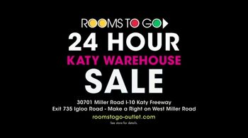 Rooms to Go 24 Hour Katy Warehouse Sale TV Spot, 'Bargains for Every Room' - Thumbnail 9