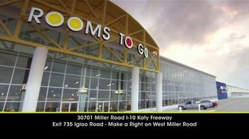 Rooms to Go 24 Hour Katy Warehouse Sale TV Spot, 'Bargains for Every Room'