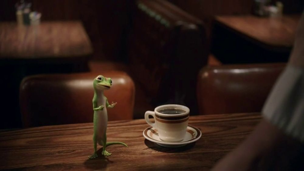 GEICO TV Commercial, 'The Gecko Visits a Diner'