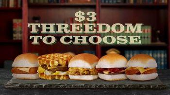 White Castle $3 Threedom to Choose TV Spot, 'Three Dollar Bill' - Thumbnail 6