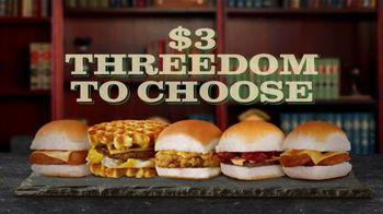White Castle $3 Threedom to Choose TV Spot, 'Three Dollar Bill' - Thumbnail 7