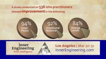 Inner Engineering With Sadhguru TV Spot, '2019 Los Angeles: Improvement for Isha Practitioners'
